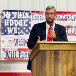 JD Hall Preaching at Patriot and Pachyderm Groups